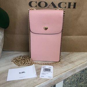 New Women's Coach Petal Pink Cross Body Bag